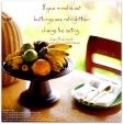 Fruit Bowl and Place Setting