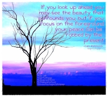 Look ahead and see....